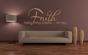 ... Things Possible Not Easy Quote Wall Sticker Wall Art Decal Transfers