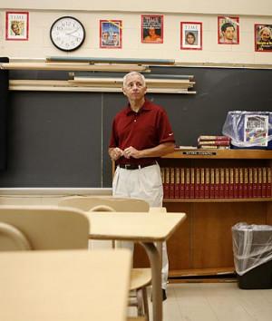 Assistant principal Patrick McLaughlin in a St. Francis Prep high ...