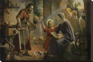 Jesus, The Carpenter's Son Stretched Canvas Print