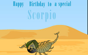 SantaBanta Greetings - Birthday - Scorpio e-cards