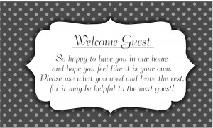 ... . What are the odds? Download the PDF for the Welcome Guest Packet