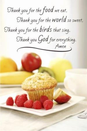 Thank you kitchen prayer