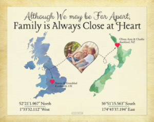 ... family long distance present for parents moving away gift family quote