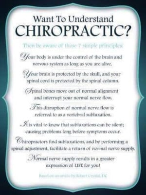 Chiropractic. There's thousands out there. Find one that follows these ...