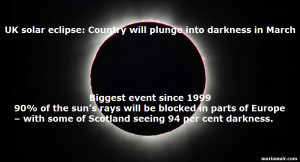 Solar Eclipse March 20th UK Will Plunge Into Darkness Biggest Blackout ...