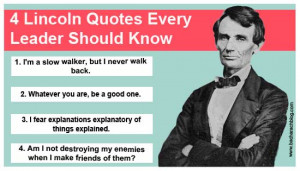 Leadership Quotes by Abraham Lincoln