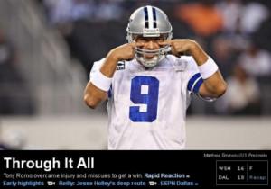 ESPN: Tony Romo is super awesome and amazing