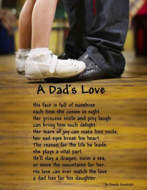 love for her father and the daddy s love for his little girl written ...
