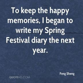 To keep the happy memories, I began to write my Spring Festival diary ...