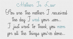 Mother – In – Law, You Are The Mother I Received The Day I Web ...