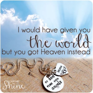 ... Miscarriage Jewelry - Loss of a Loved One - Personalized Condolence