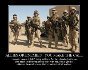 Marine General James Mattis quote