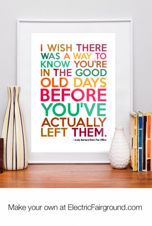 Andy Bernard from The Office Framed Quote