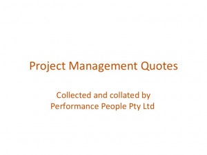 quotes about project management