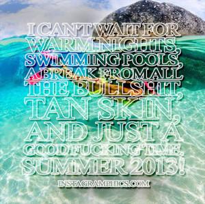 Warm Nights Summer 2013 Quote Graphic