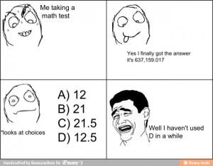 Test taking random