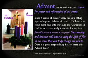 am wishing you every blessing and for an Advent that stokes the fire ...