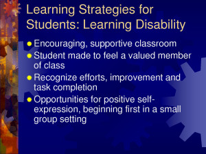 Strategies for Students with a Learning Disability