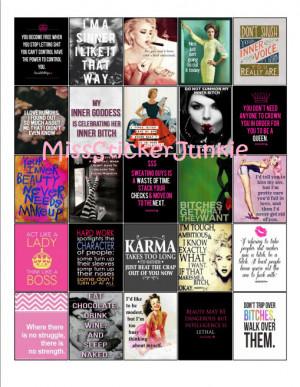 Inner Bitch Boss Bitch Attitude Quote Stickers for Erin Condren Life ...