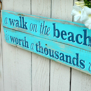 Beach Home Decor Sign with Starfish Wall Art Hand Crafted Reclaimed ...