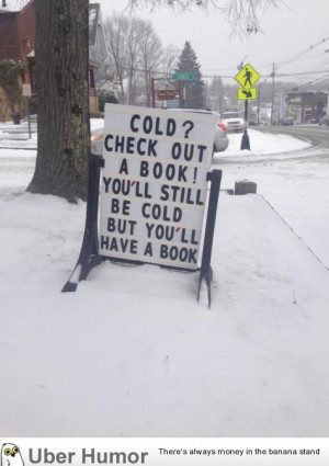 My town's public library has a clever blizzard solution