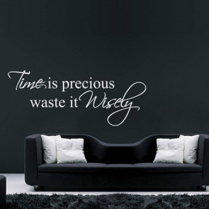 time is precious quote wall stickers by parkins interiors ...
