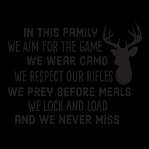 Hunting Family Rules Wall Quotes™ Decal