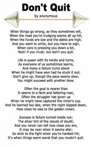 Great poem that was mentioned at LSU dad's and daughter's gymnastics ...