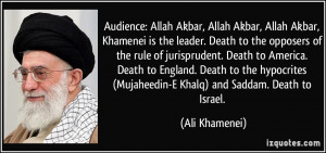 Audience: Allah Akbar, Allah Akbar, Allah Akbar, Khamenei is the ...