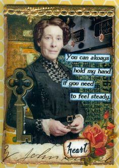 downton abbey mrs hughes more atc ideas hugh atc downton love carson ...