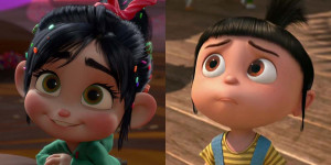 Vanellope and Agnes's somewhat resemblance.