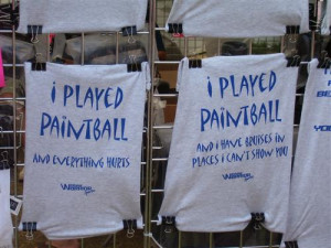 Funny paintball t-shirts