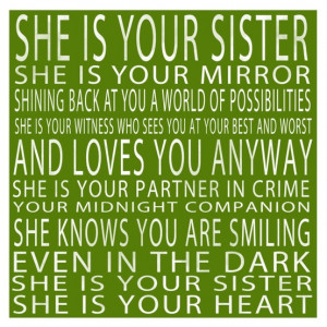 Happy Birthday to My Sister!