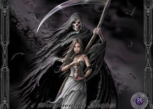 Anne Stokes dark horror evil grim reaper death gothic women weapon ...