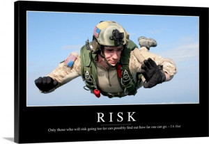 Risk: Inspirational Quote and Motivational Poster Wall Art