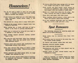 Household Hints Pamphlet Page 2