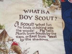 vintage scouting piece with quote