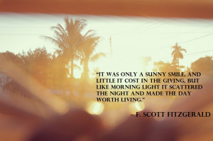 "... worth living."" ~ F. Scott Fitzgerald #quote #thought #inspiration"
