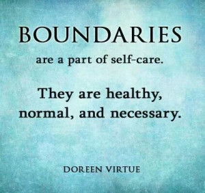Boundaries are a necessity