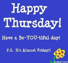 Thursday Work Quotes Happy thursday! via comeback