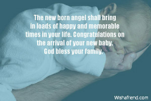 New Baby Wishes The new born angel shall