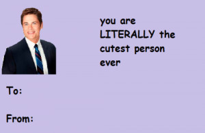 ... leslie knope Ron Swanson valentines day cards dont take credit for