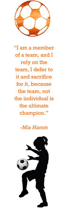 Girl Soccer Quotes Mia Hamm