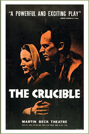 symbols in the crucible by arthur miller red scare