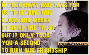 Friendship messages Build the trust