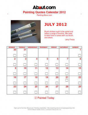 Free Painting Quotes Calendar