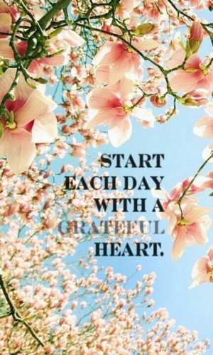 Start each day with a Grateful Heart / quotes for inspiration and ...