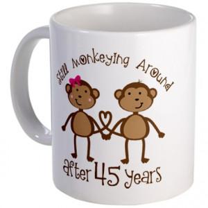 45th Anniversary Love Monkeys Mug