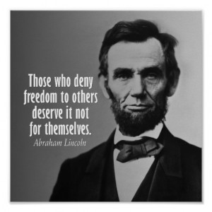 Abraham Lincoln Quote on Slavery Print