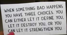 find strength